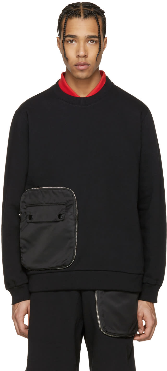 Givenchy Black Detachable Pocket Sweatshirt