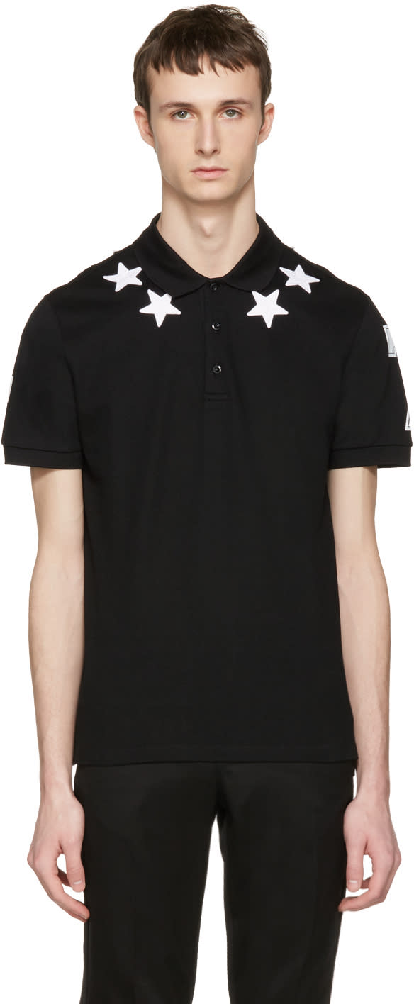 Givenchy Black Star Patch Polo
