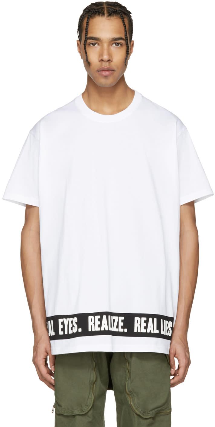 Givenchy White real Eyes T-shirt