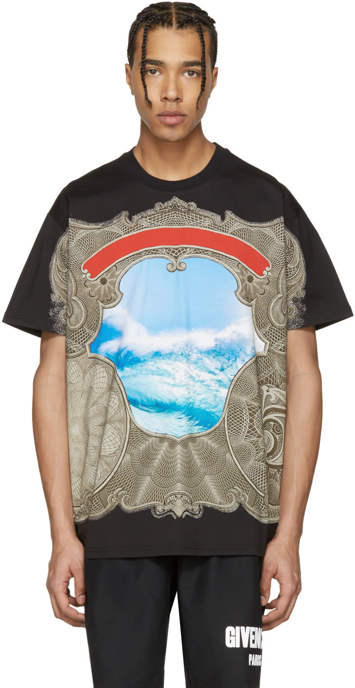 Givenchy Black Waves T-shirt