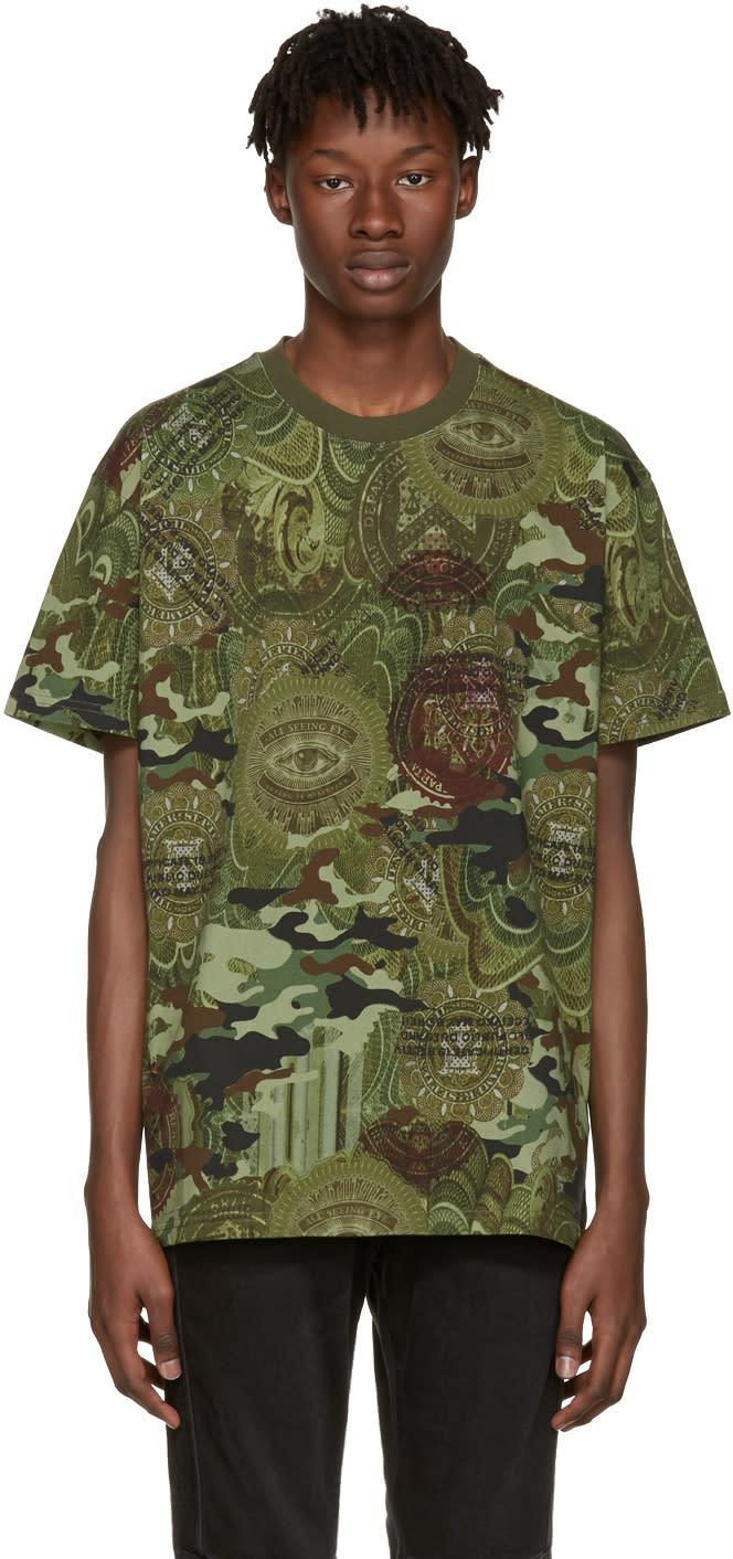 Givenchy Green Camo Money T-shirt