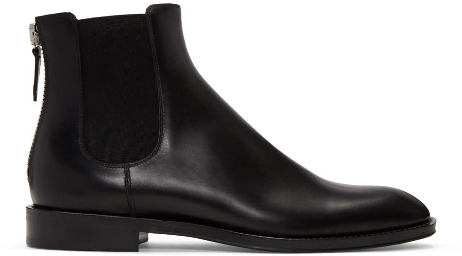 Givenchy Black Zip Chelsea Boots