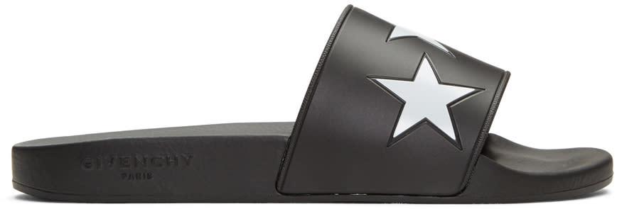 Givenchy Black Star Slide Sandals