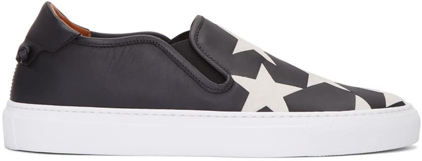 Givenchy Black Star Street Skate Slip-on Sneakers