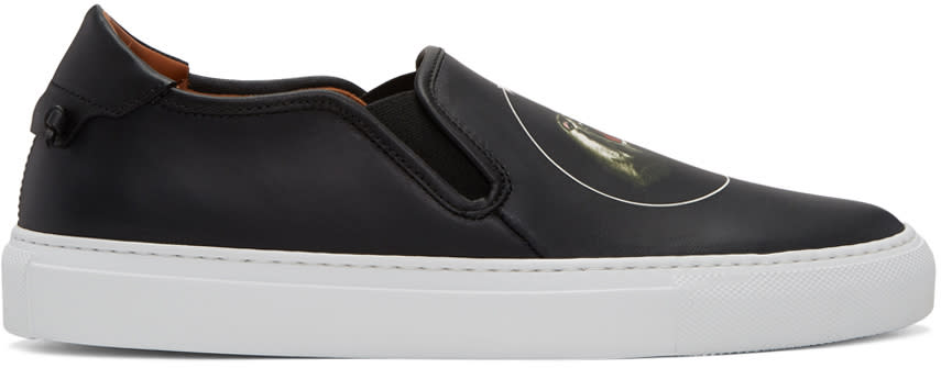 Givenchy Black Monkey Brothers Street Skate Iii Slip-on Sneakers