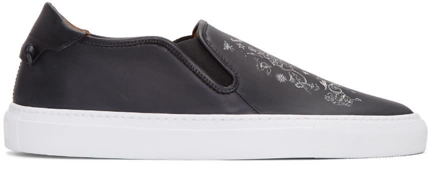 Givenchy Black Tattoo Street Skate Slip-on Sneakers