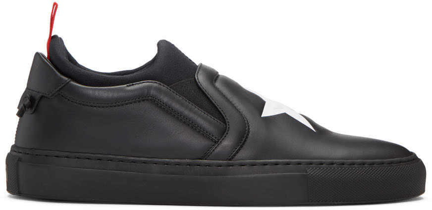 Givenchy Black Star Slip-on Sneakers