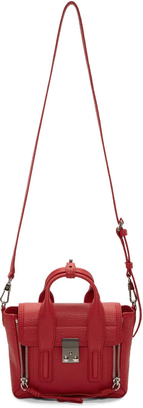 31 phillip lim female 31 phillip lim red mini pashli satchel