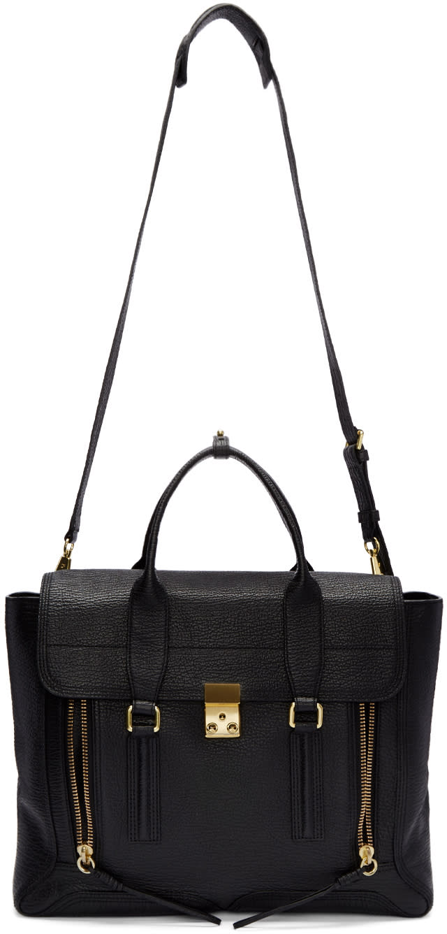 3.1 Phillip Lim Black Large Pashli Satchel