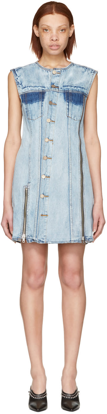 3.1 Phillip Lim Indigo Asymmetric Denim Dress