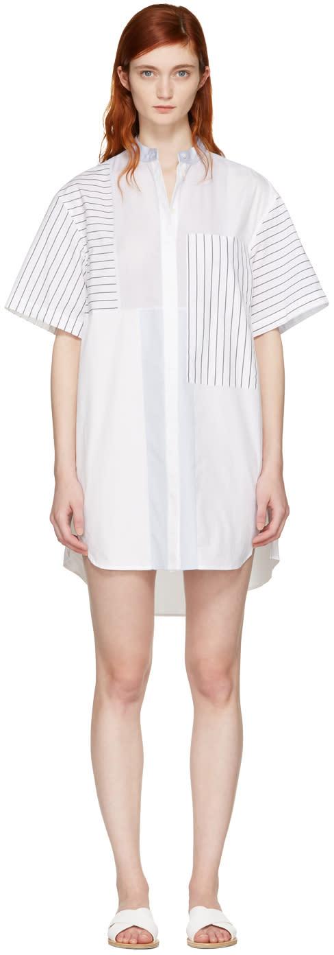 3.1 Phillip Lim White Patchwork Shirt Dress