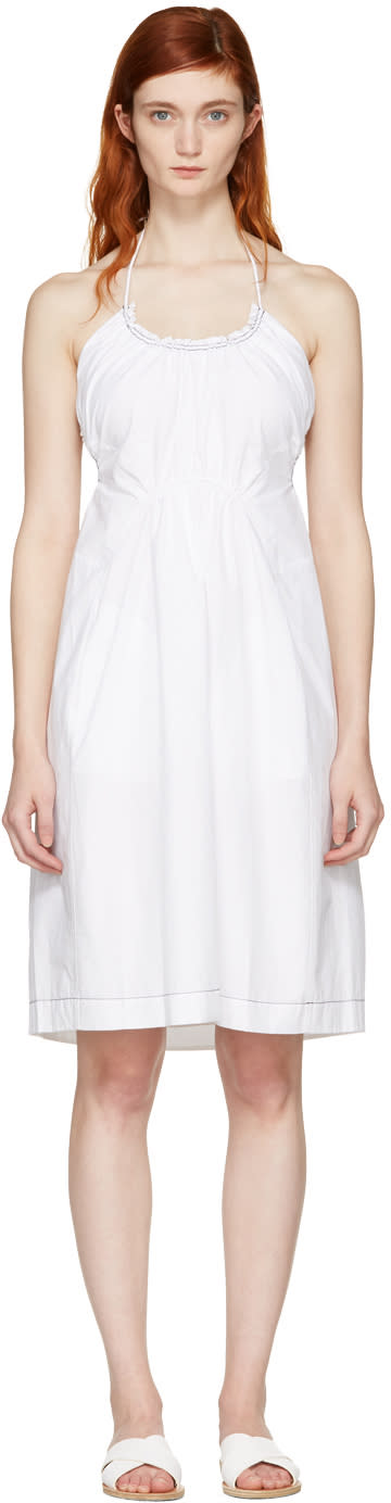 3.1 Phillip Lim White Gathered Cotton Dress