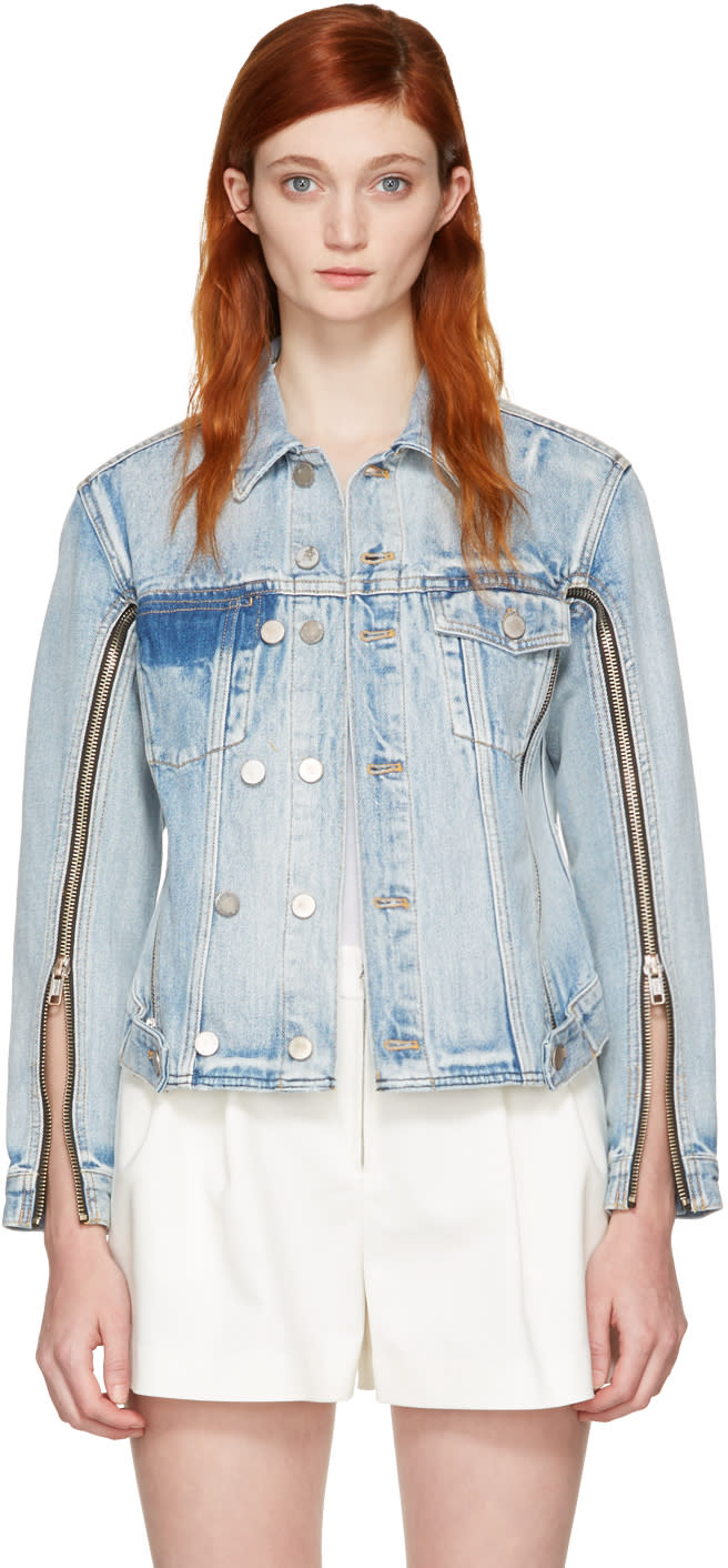 3.1 Phillip Lim Indigo Denim Zip Jacket