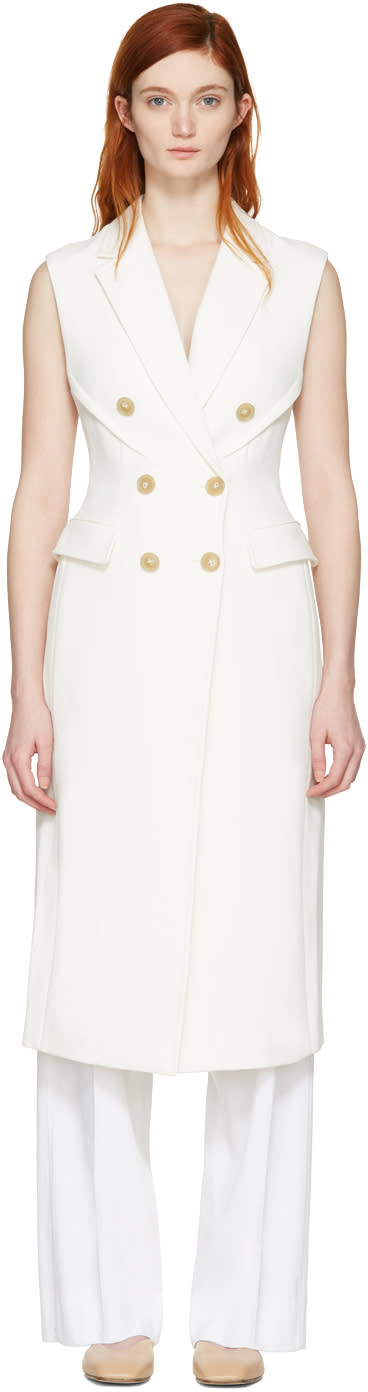 3.1 Phillip Lim White Long Sculpted Vest