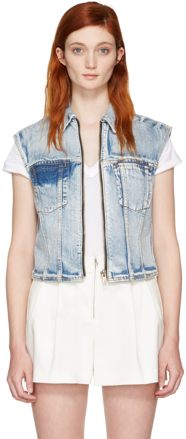 3.1 Phillip Lim Indigo Denim Zip Vest
