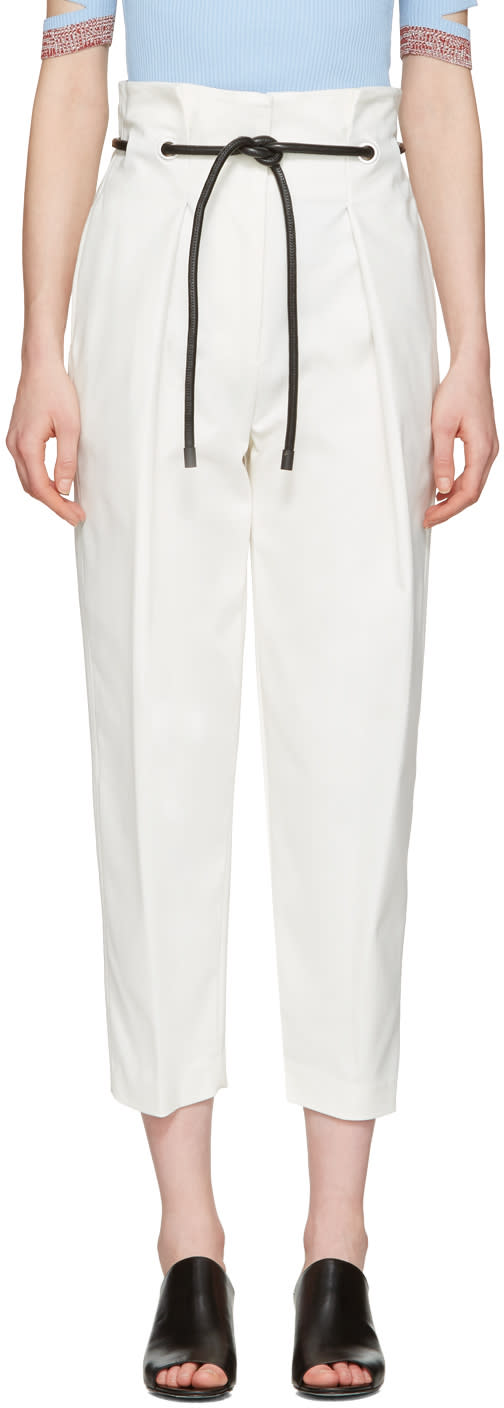 3.1 Phillip Lim White Tailored Pleated Trousers