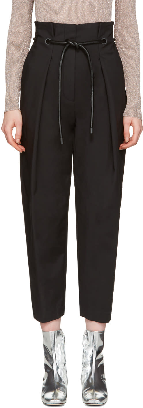 3.1 Phillip Lim Black Tailored Pleated Trousers