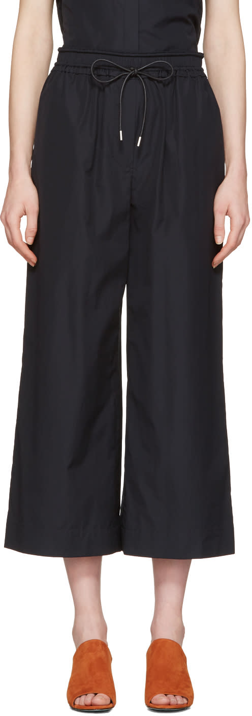 3.1 Phillip Lim Blue Poplin Drawstring Trousers