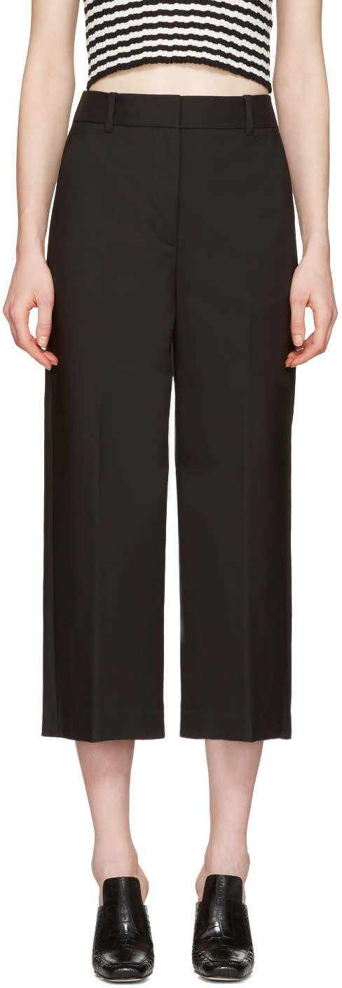 3.1 Phillip Lim Black Wide-leg Crop Tailored Trousers