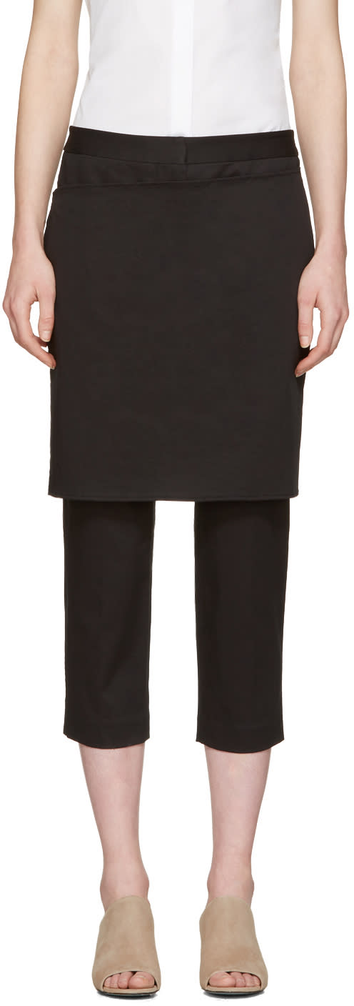 3.1 Phillip Lim Black Apron Trousers