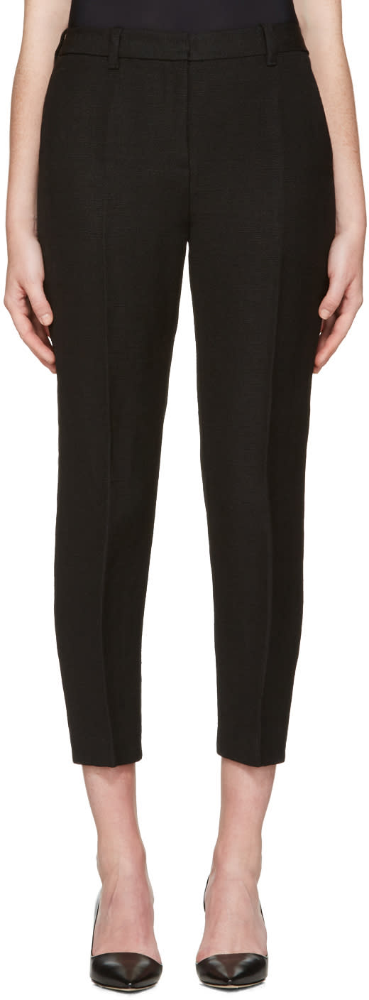 3.1 Phillip Lim Black Jute Pencil Trousers