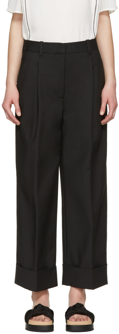 3.1 Phillip Lim Black Wide-leg Trousers