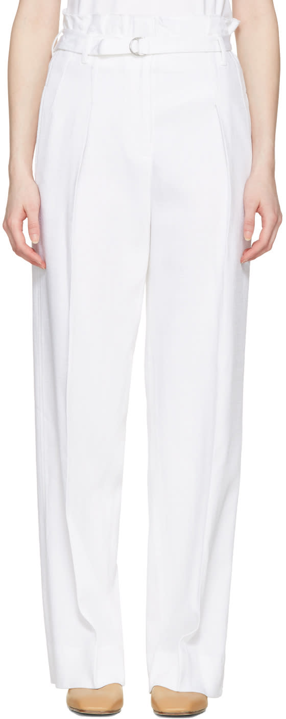 3.1 Phillip Lim White Paper Bag Waist Trousers