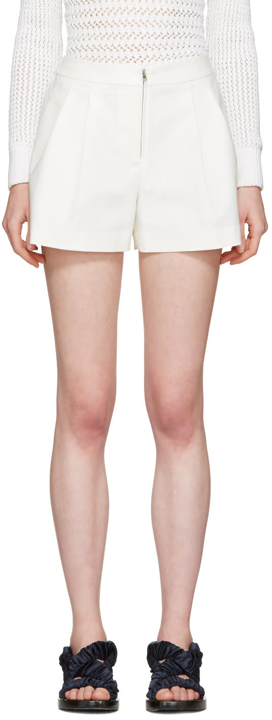 3.1 Phillip Lim White Tailored Bloomer Shorts