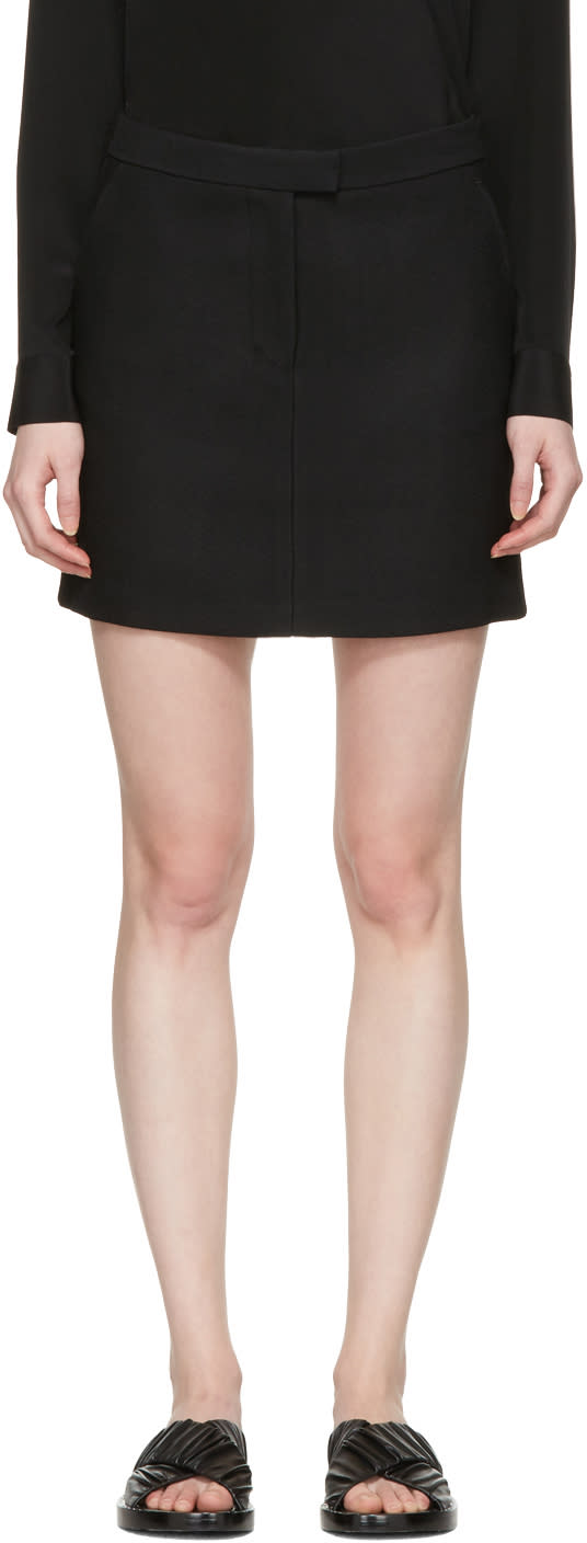 3.1 Phillip Lim Black Tailored Miniskirt