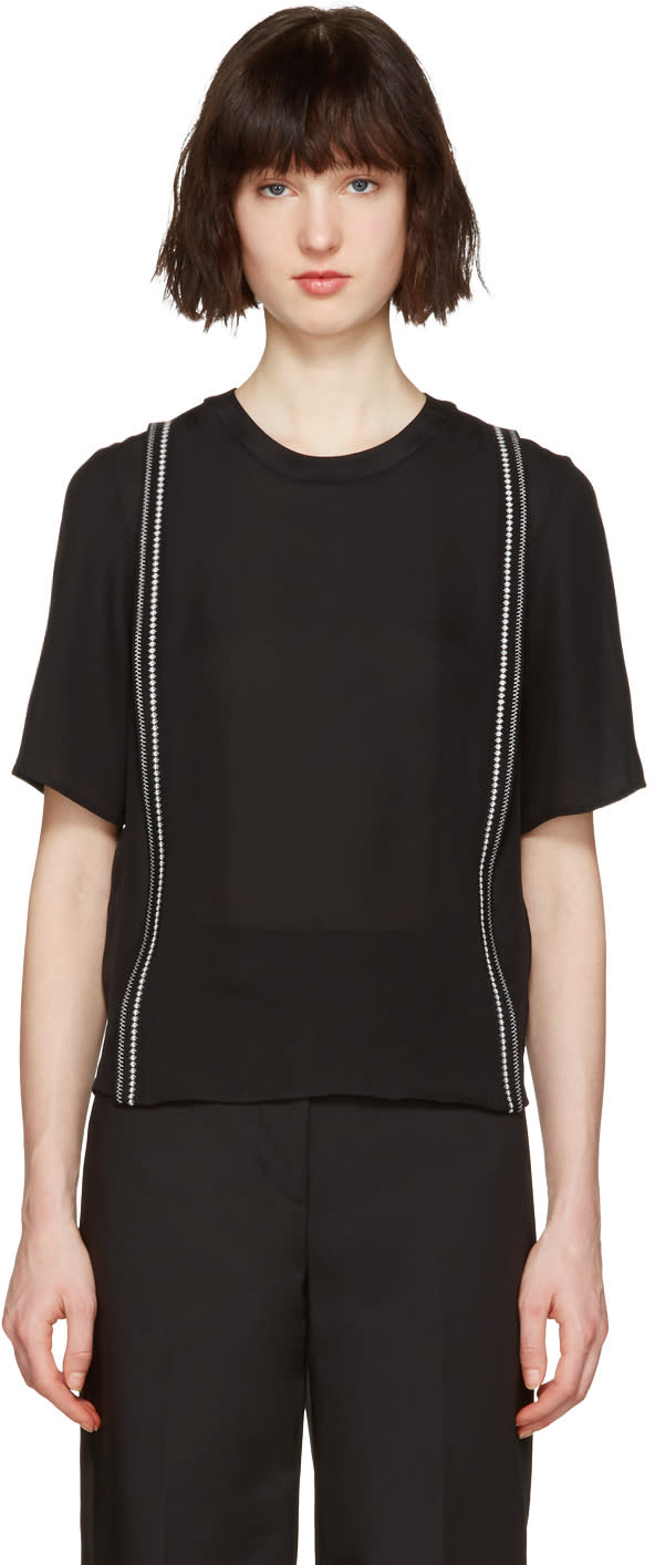 3.1 Phillip Lim Black Embroidered Blouse