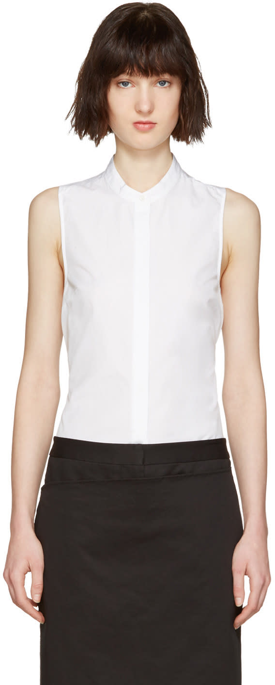 3.1 Phillip Lim White Back Knot Shirt