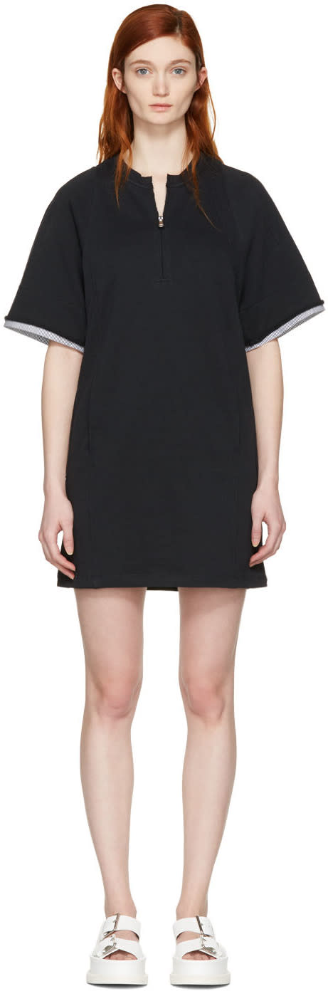 3.1 Phillip Lim Black French Terry Dress