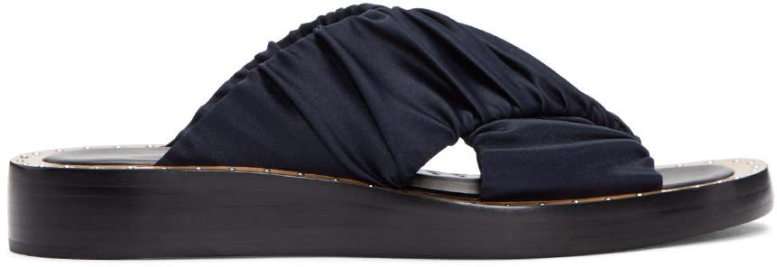 3.1 Phillip Lim Navy Nagano Slide Sandals