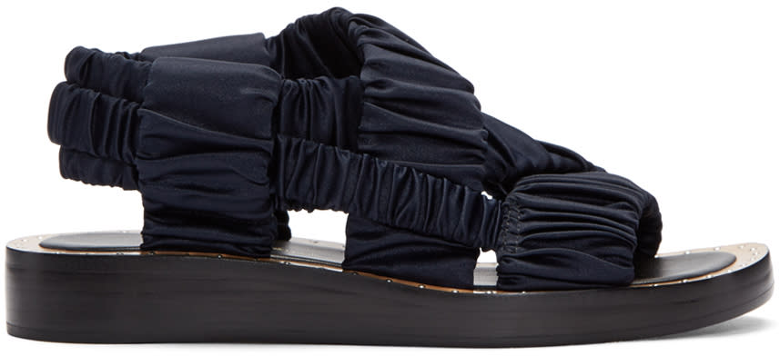 3.1 Phillip Lim Navy Nagano Sandals