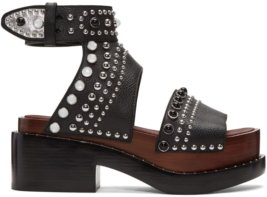 3.1 Phillip Lim Black Nashville Platform Sandals