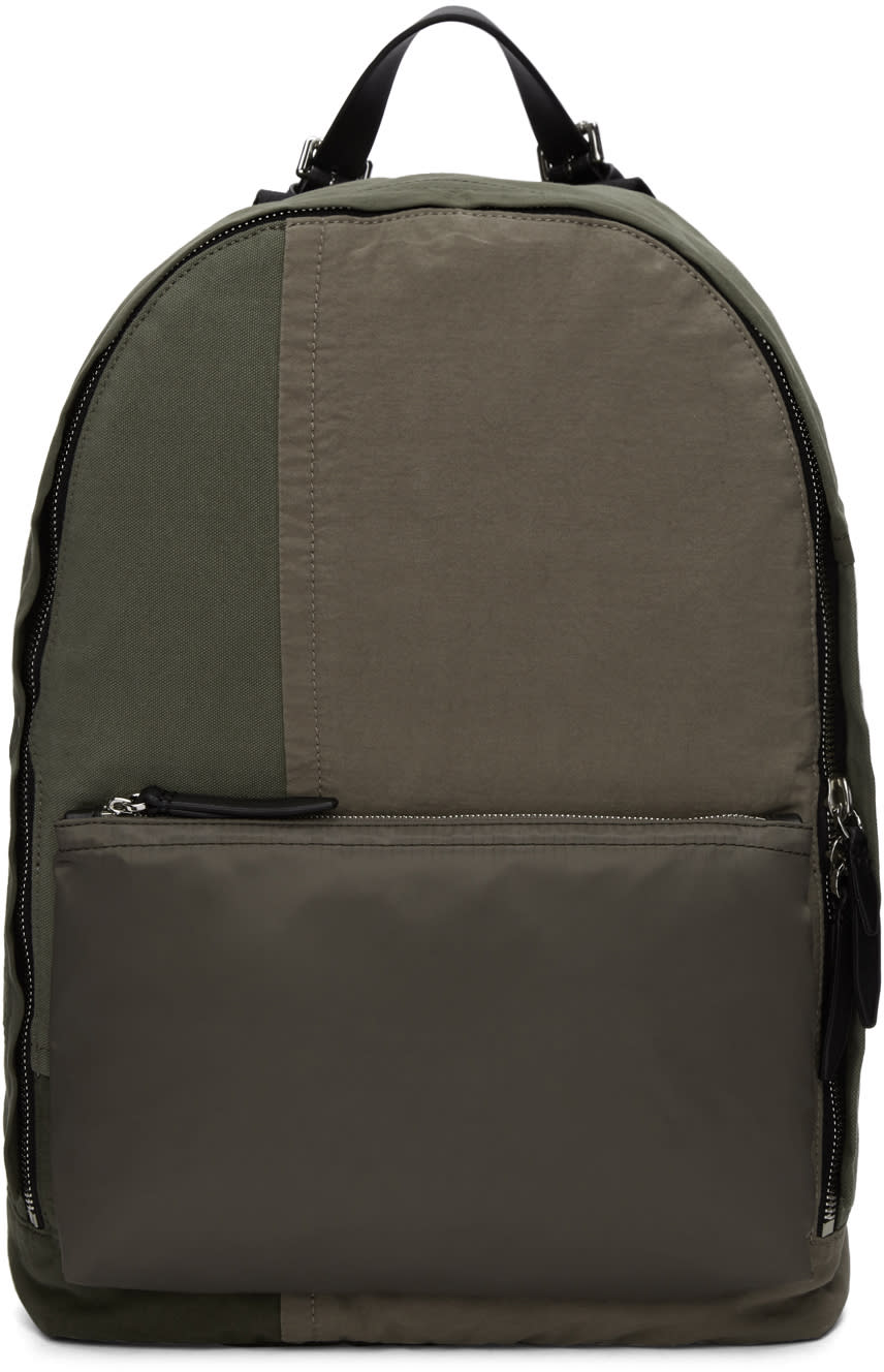 3.1 Phillip Lim Green Patchwork 31 Hour Backpack