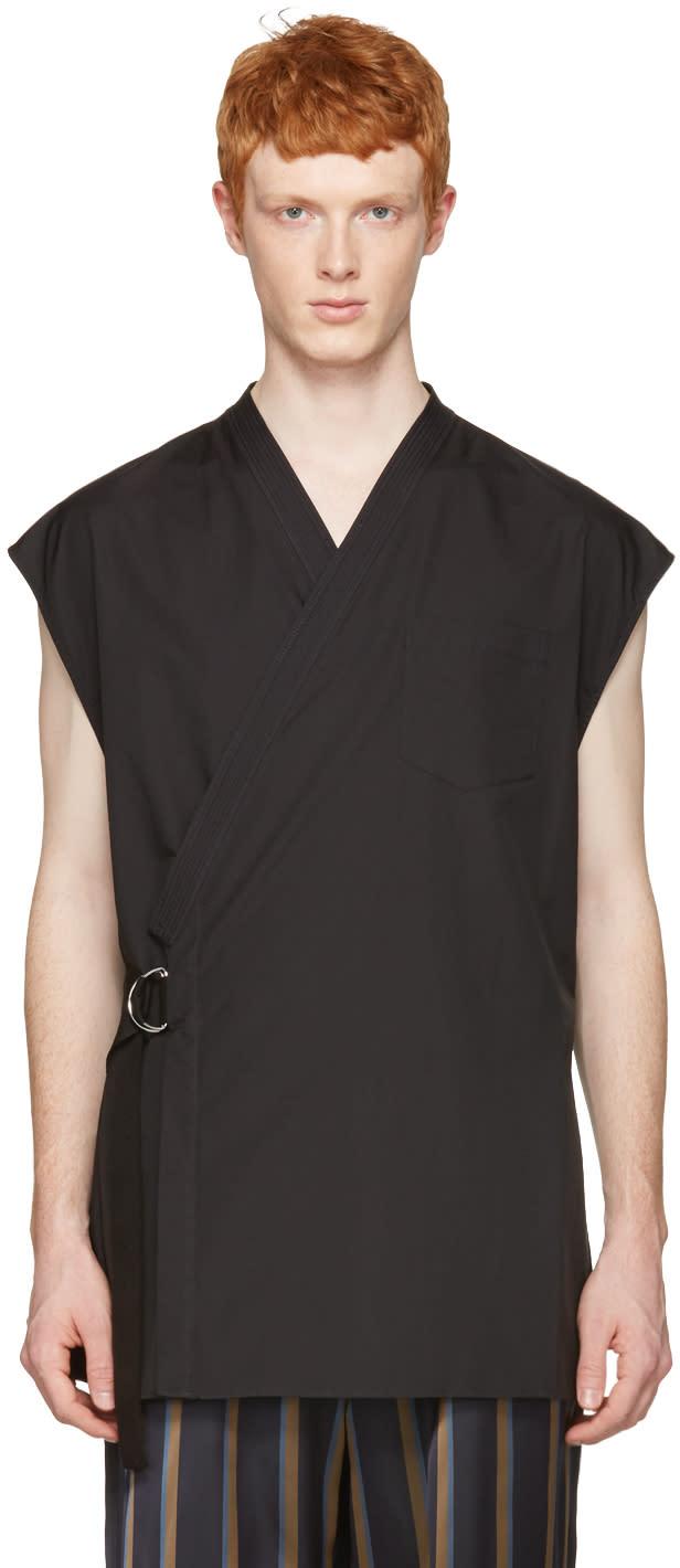 3.1 Phillip Lim Black Kimono Vest