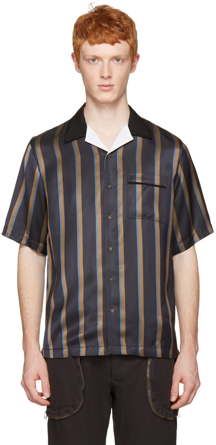 3.1 Phillip Lim Navy Striped Pyjama Shirt