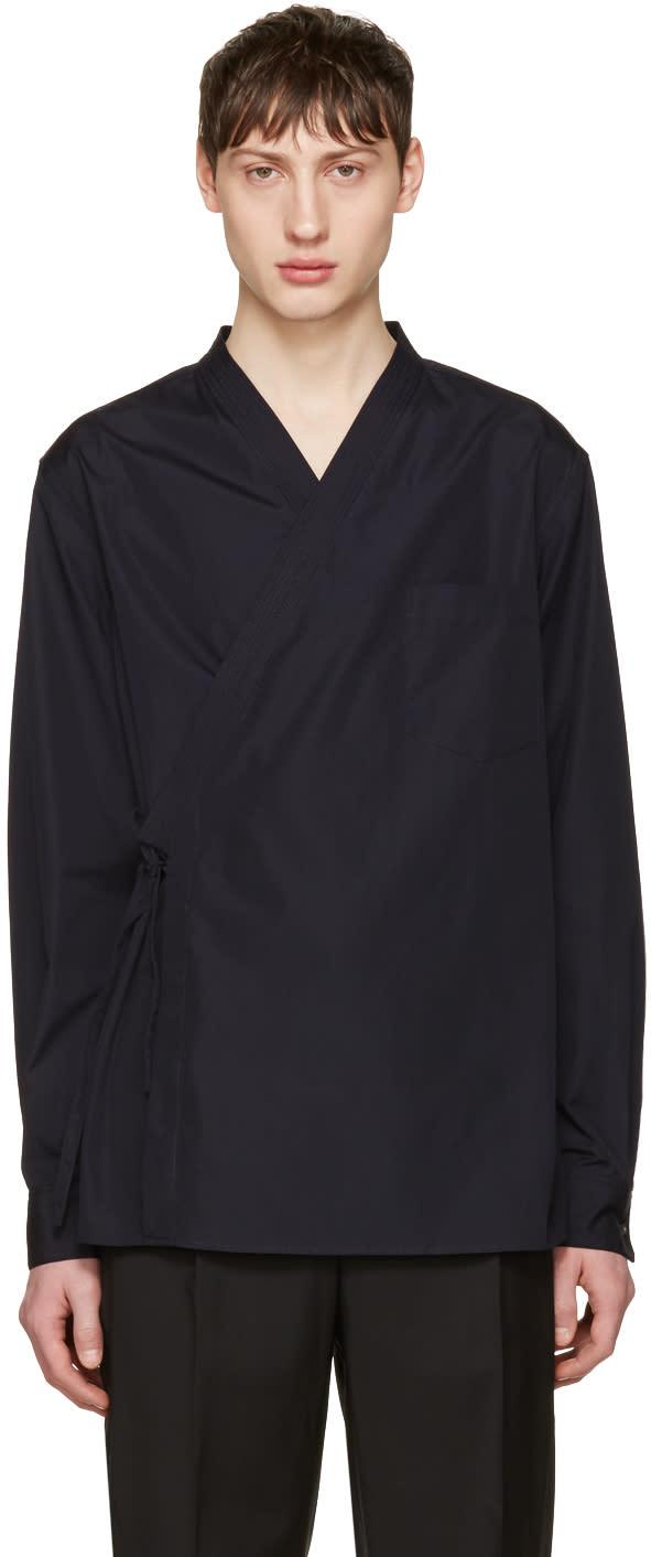 3.1 Phillip Lim Navy Kimono Shirt