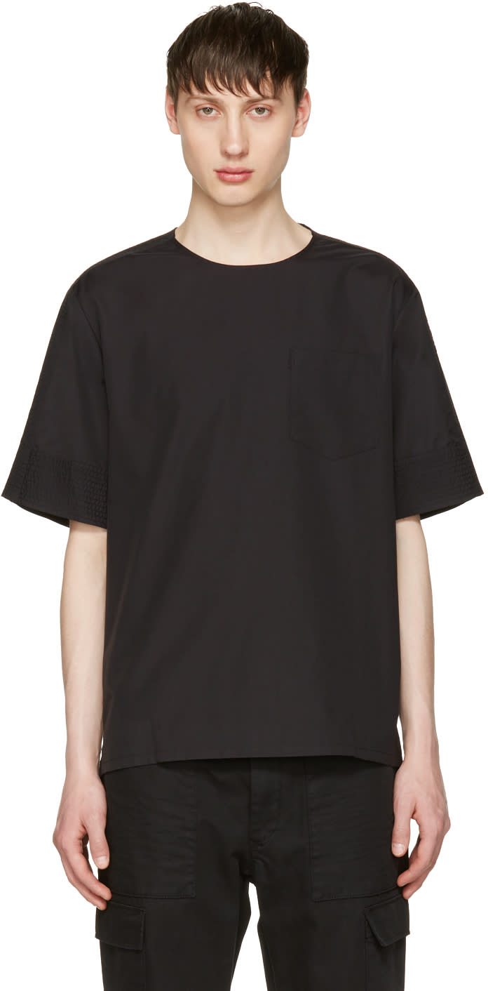 3.1 Phillip Lim Black Poplin T-shirt