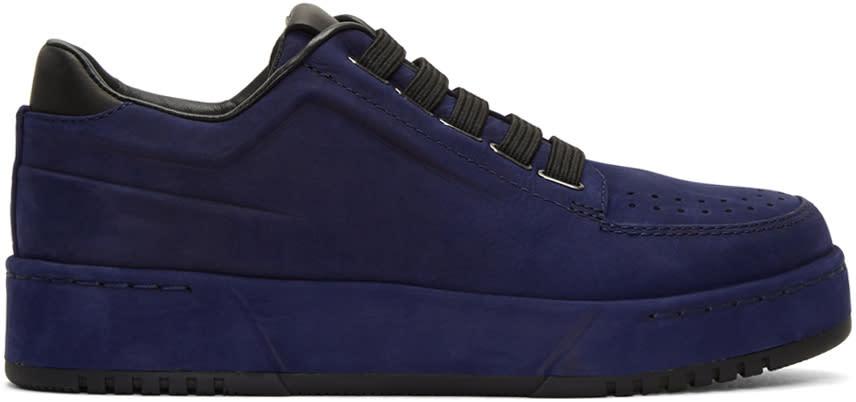 3.1 Phillip Lim Navy Suede Pl31 Sneakers