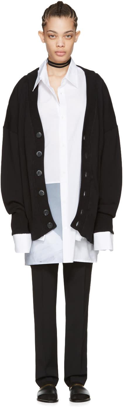 Raf Simons Black Oversized Cardigan