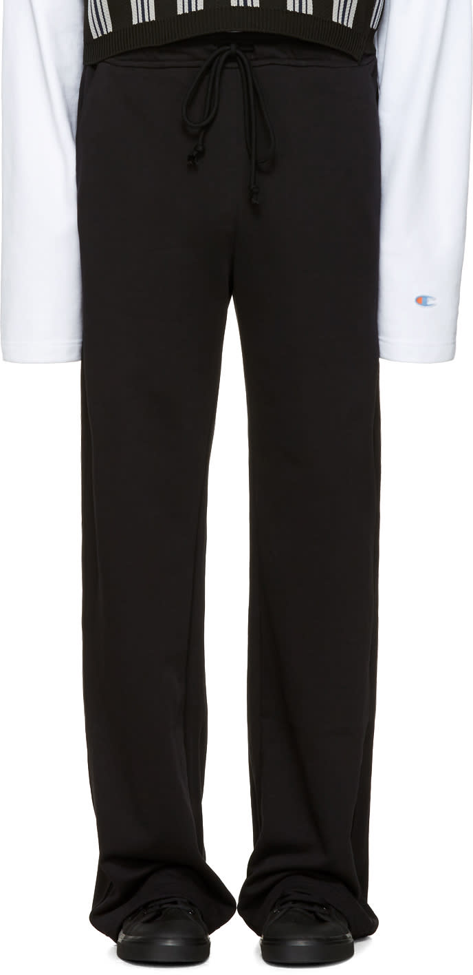 Raf Simons Black Long Jogging Pants