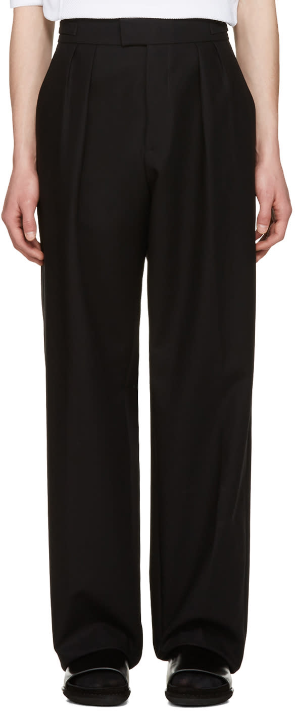 Raf Simons Black Buckle Trousers
