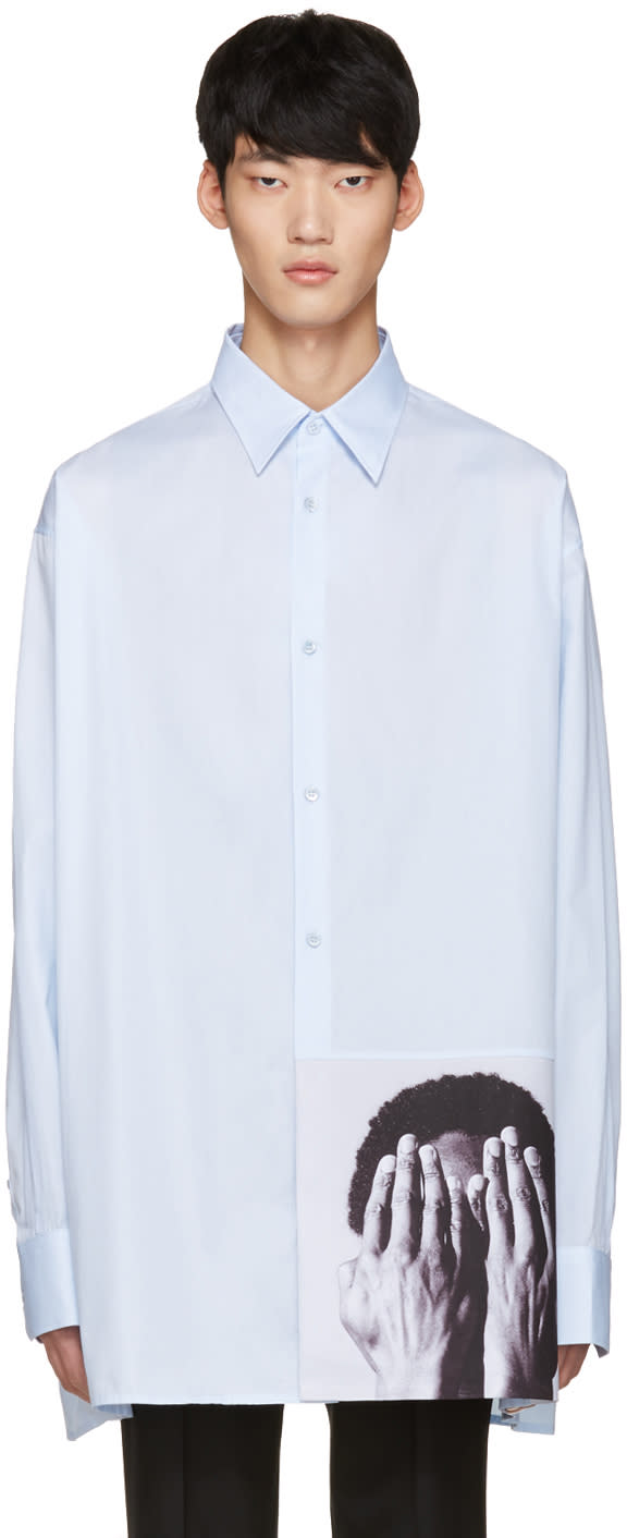 Raf Simons Blue Robert Mapplethorpe Edition Alistair Oversized Shirt