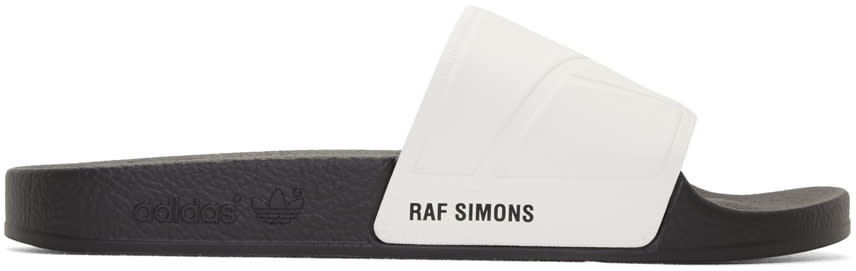 Raf Simons Off-white Adidas Originals Edition hold Firmly This Side Up Adilette Bunny Sandals