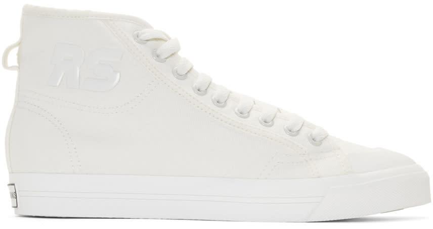 Raf Simons Off-white Adidas Originals Edition Spirit High-top Sneakers