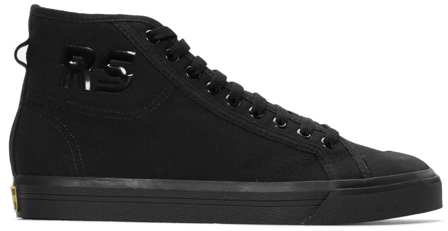 Raf Simons Black Adidas Originals Edition Spirit High-top Sneakers