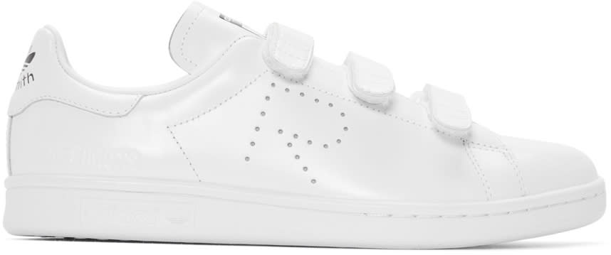 Raf Simons White Adidas Originals Edition Stan Smith Comfort Sneakers