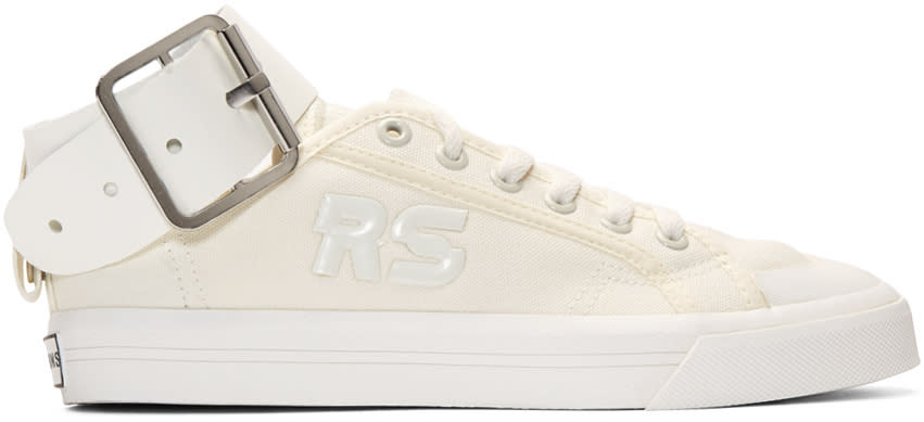 Raf Simons White Adidas Originals Edition Spirit Buckle Sneakers